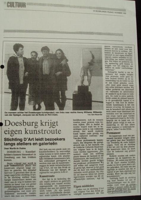 Onstaan culturele zondag Doesburg